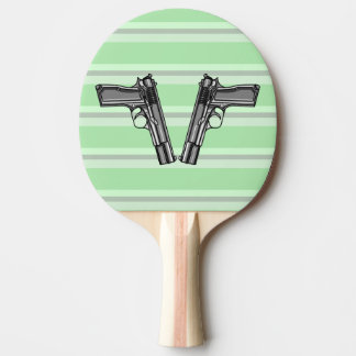 Illustration of two pistols Ping-Pong paddle