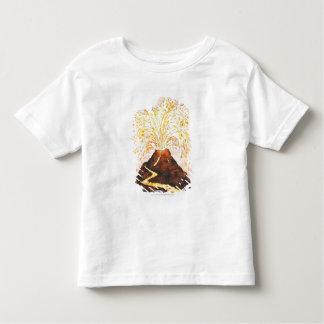 Illustration of volcano erupting shirt