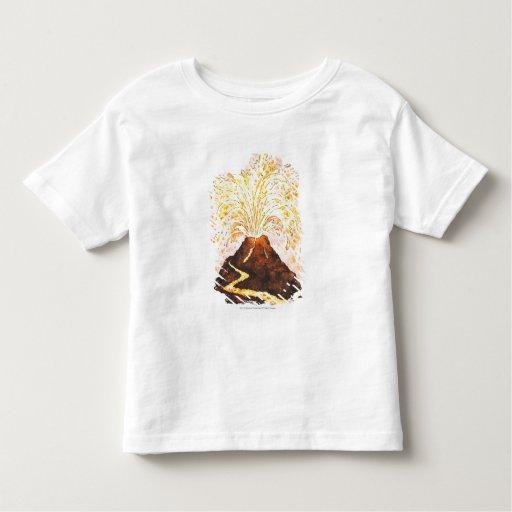 Illustration of volcano erupting Toddler T-shirt