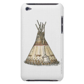 Illustration of wigwam iPod touch cases