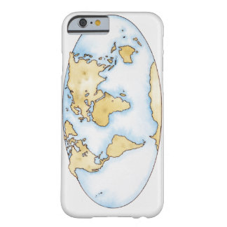 Illustration of world map barely there iPhone 6 case
