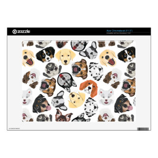 Illustration Pattern Dogs Acer Chromebook Decals
