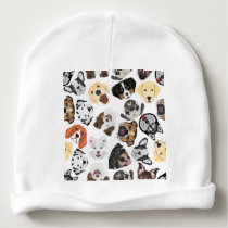 Illustration Pattern Dogs Baby Beanie