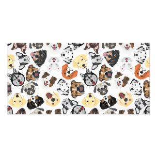 Illustration Pattern Dogs Card