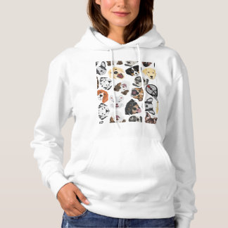 Illustration Pattern Dogs Hoodie