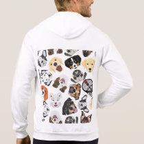 Illustration Pattern Dogs Hoodie