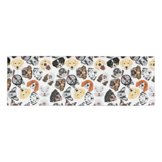 Illustration Pattern Dogs Name Tag