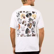 Illustration Pattern Dogs Polo Shirt