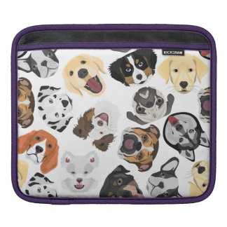 Illustration Pattern Dogs Sleeve For iPads