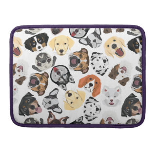 Illustration Pattern Dogs Sleeve For MacBook Pro