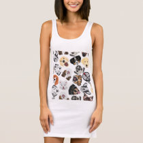 Illustration Pattern Dogs Sleeveless Dress