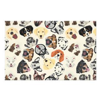 Illustration Pattern Dogs Stationery