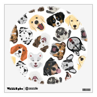 Illustration Pattern Dogs Wall Decal
