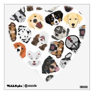 Illustration Pattern Dogs Wall Sticker