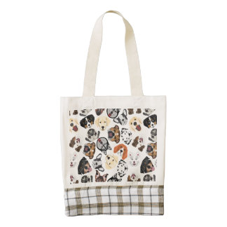 Illustration Pattern Dogs Zazzle HEART Tote Bag