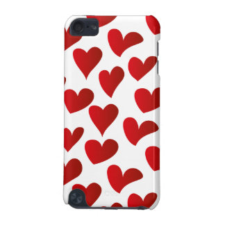Illustration pattern painted red heart love iPod touch (5th generation) cover