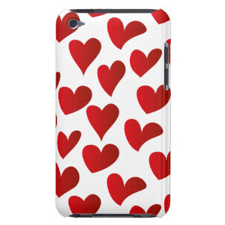 Illustration pattern painted red heart love iPod touch Case-Mate case