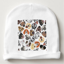 Illustration Pattern sweet Domestic Dogs Baby Beanie