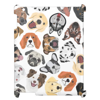 Illustration Pattern sweet Domestic Dogs Case For The iPad