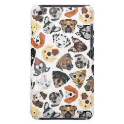 Illustration Pattern sweet Domestic Dogs Case-Mate iPod Touch Case