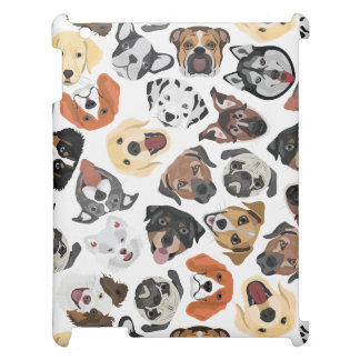 Illustration Pattern sweet Domestic Dogs Cover For The iPad 2 3 4