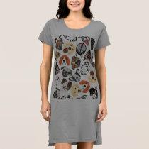 Illustration Pattern sweet Domestic Dogs Dress