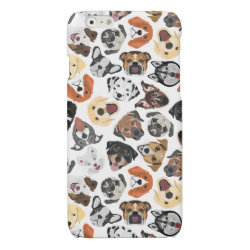 Illustration Pattern sweet Domestic Dogs Glossy iPhone 6 Case