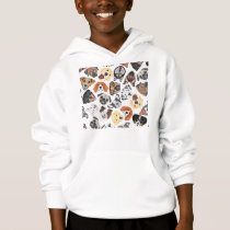 Illustration Pattern sweet Domestic Dogs Hoodie