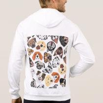 Illustration Pattern sweet Domestic Dogs Hoodie