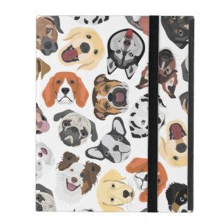Illustration Pattern sweet Domestic Dogs iPad Folio Case