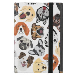 Illustration Pattern sweet Domestic Dogs iPad Mini Cover