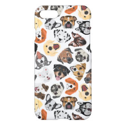 Illustration Pattern sweet Domestic Dogs iPhone 8/7 Case