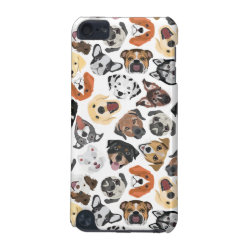 Illustration Pattern sweet Domestic Dogs iPod Touch (5th Generation) Cover