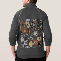 Illustration Pattern sweet Domestic Dogs Jacket