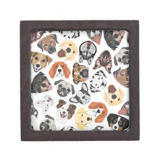Illustration Pattern sweet Domestic Dogs Jewelry Box