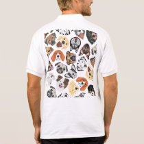 Illustration Pattern sweet Domestic Dogs Polo Shirt