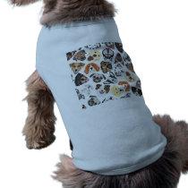 Illustration Pattern sweet Domestic Dogs Shirt