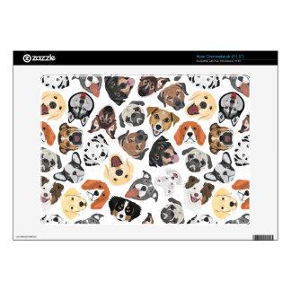 Illustration Pattern sweet Domestic Dogs Skins For Acer Chromebook