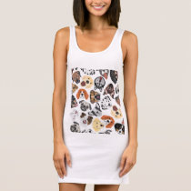 Illustration Pattern sweet Domestic Dogs Sleeveless Dress