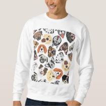 Illustration Pattern sweet Domestic Dogs Sweatshirt