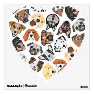 Illustration Pattern sweet Domestic Dogs Wall Decal
