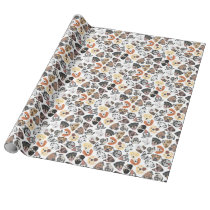 Illustration Pattern sweet Domestic Dogs Wrapping Paper