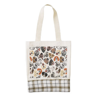 Illustration Pattern sweet Domestic Dogs Zazzle HEART Tote Bag