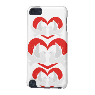 Illustration peace doves with heart iPod touch (5th generation) case