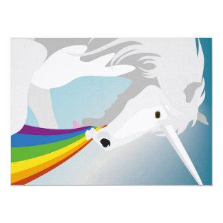 Illustration puking Unicorns Card