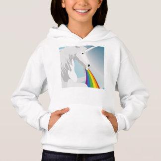 Illustration puking Unicorns Hoodie