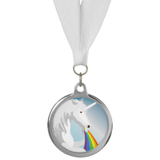Illustration puking Unicorns Medal