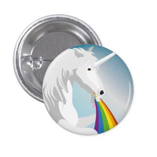 Illustration puking Unicorns Pinback Button