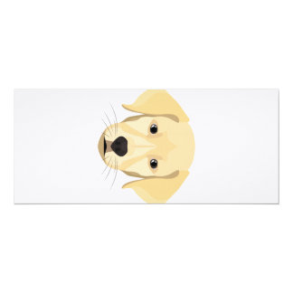 Illustration Puppy Golden Retriver Card