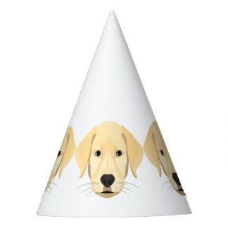 Illustration Puppy Golden Retriver Party Hat